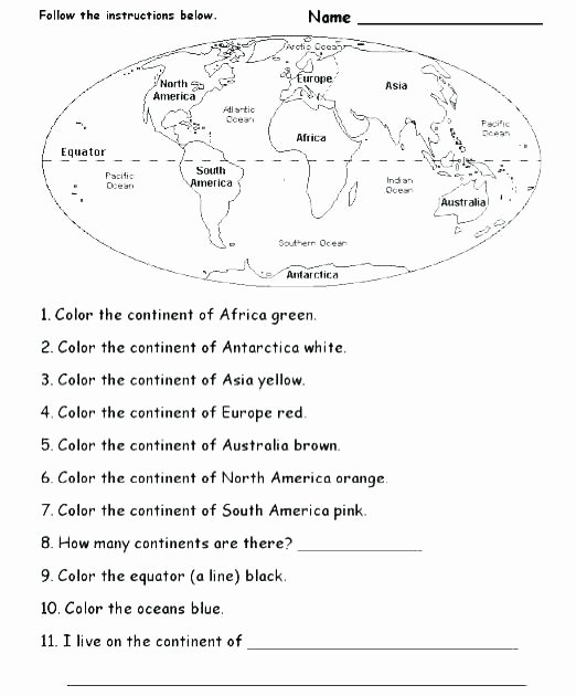 Map Worksheets 2nd Grade Free Blank Map Of the World Worksheets