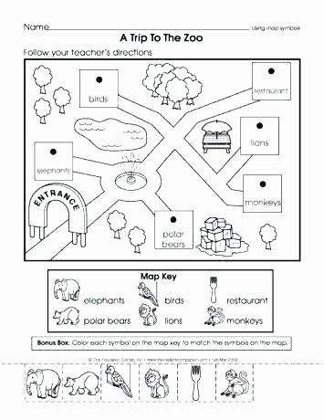 Map Worksheets 2nd Grade Second Grade Map Skills Worksheets