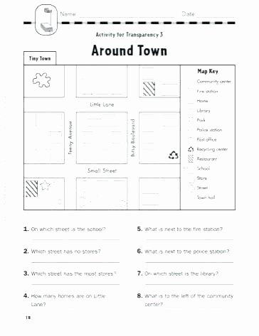 Map Worksheets for 2nd Grade Map Practice Worksheets