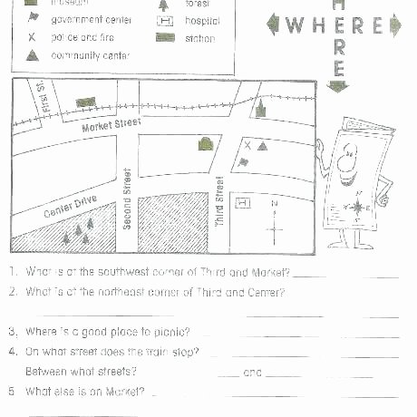 Map Worksheets for 2nd Grade Map Worksheets for 4th Grade