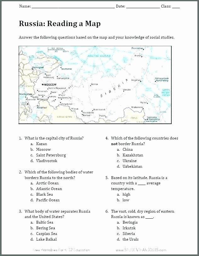 Map Worksheets for 2nd Grade Third Grade social Stu S Worksheets