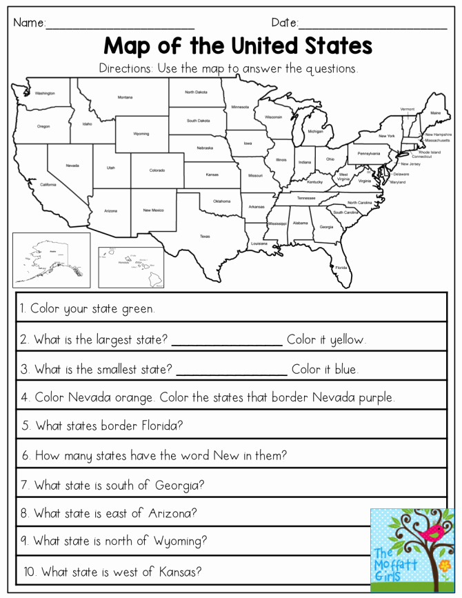 Map Worksheets for First Grade 1st Grade Geography Worksheets Kids Map Skills Worksheet Pdf