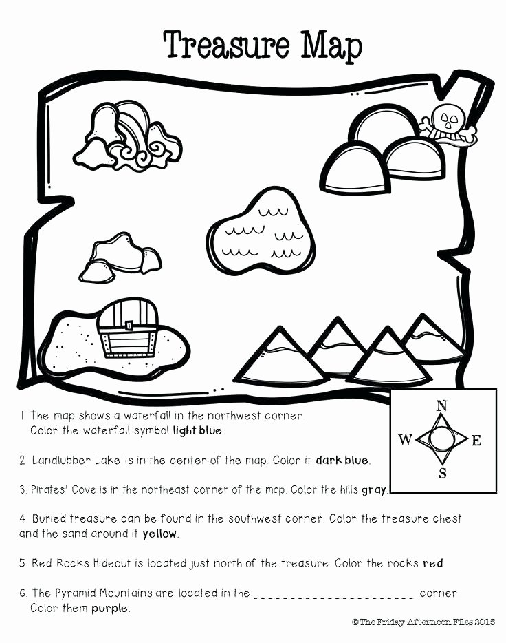 Map Worksheets for First Grade 1st Grade Map Skills Worksheets