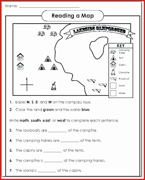 Map Worksheets for First Grade Free Printable Map Skills Worksheets Practicing Printable