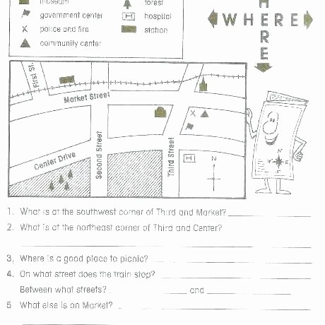 Map Worksheets for First Grade Worksheets Best Maps School Teaching social