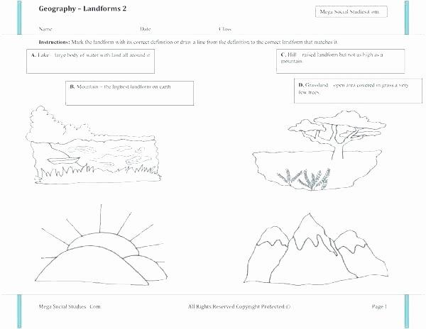 Maps Worksheets 2nd Grade Landforms Worksheets 2nd Grade – Homeofficelove