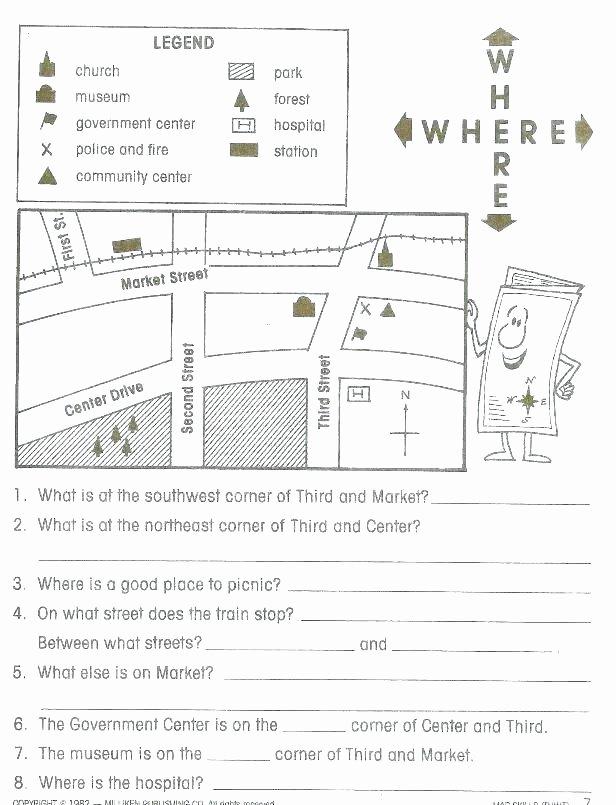 Maps Worksheets 2nd Grade Printable Map Worksheets
