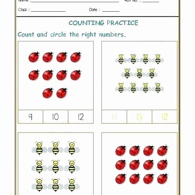 Matching Numbers Worksheets Counting and Number Recognition Worksheets Count Match