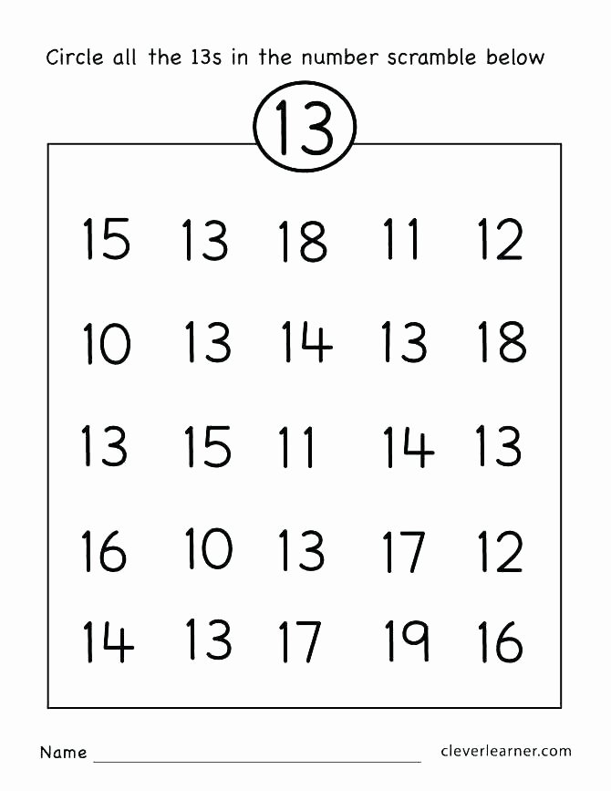 Matching Numbers Worksheets Fill In the Missing Numbers 1 Worksheets Free Counting