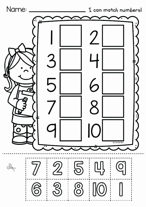 Matching Numbers Worksheets Number Trace Worksheets 1 5 Tracing Playgroup Preschool