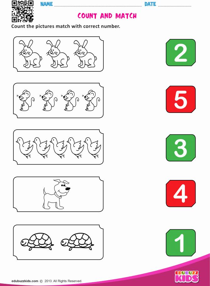 Matching Numbers Worksheets Printable ordinal Numbers Worksheets for Preschoolers Number