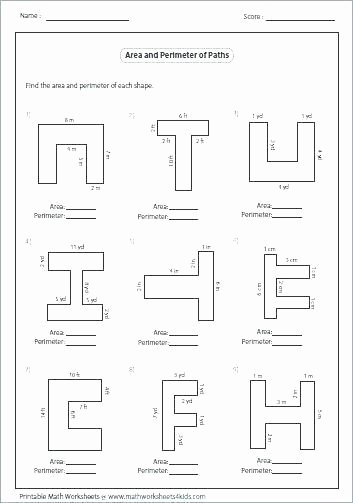Math Aids Compound Shapes Awesome area and Perimeter Worksheets Pdf Math Aids – Makinterests