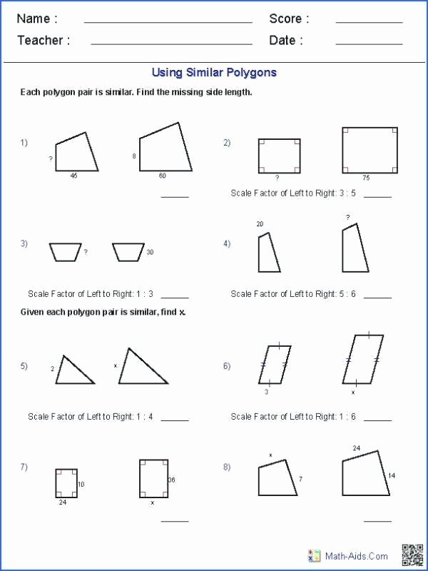 Math Aids Factors Worksheets Similar Shapes Worksheets Math – Majicpicsub