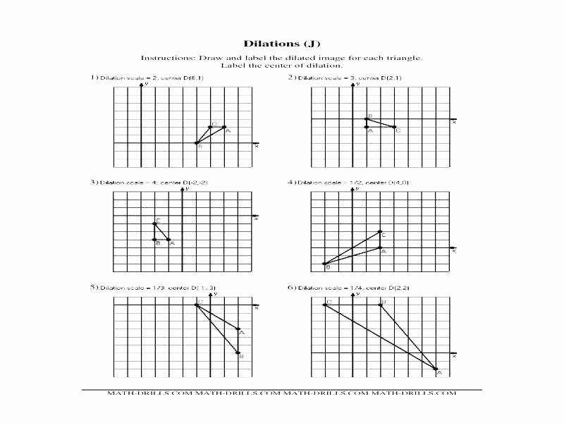 Math Aids Reflections Geometry Dilation Worksheet and Similarity Worksheet Lesson