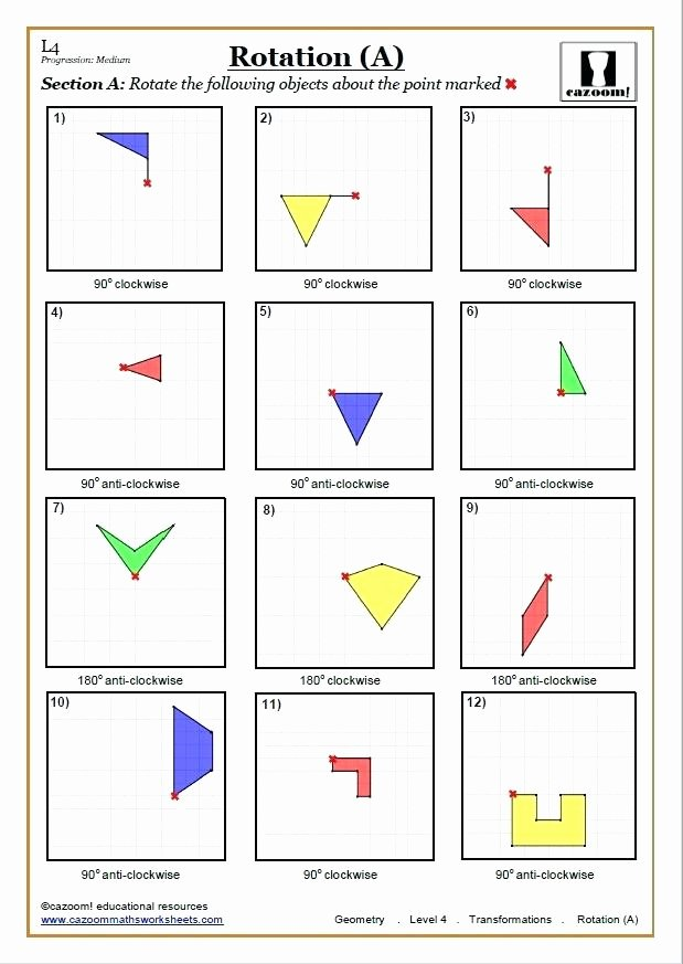 transformations quiz math reflections maths worksheet mathnasium scarsdale