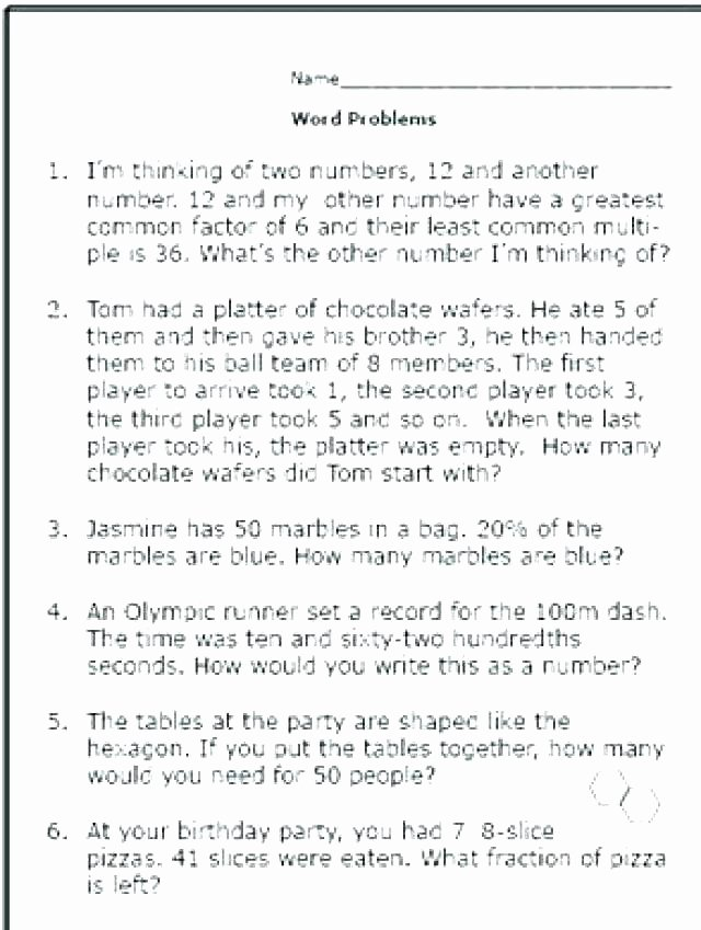 Math Conversion Worksheets 5th Grade 5th Grade Measurement Word Problems Worksheets
