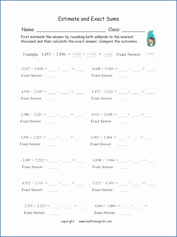 Math Conversion Worksheets 5th Grade Measurement Estimation Worksheets Grade Estimate Estimating