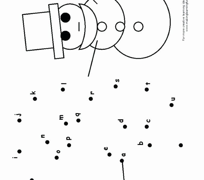 Math Dot to Dot Worksheets Gingerbread Man Alphabet Dot to Dot Letter Connect the Dots