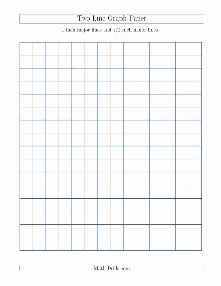Math Drills Graph Paper Beautiful 1 Inch Major Lines with 1 2 Inch Minor Lines Math