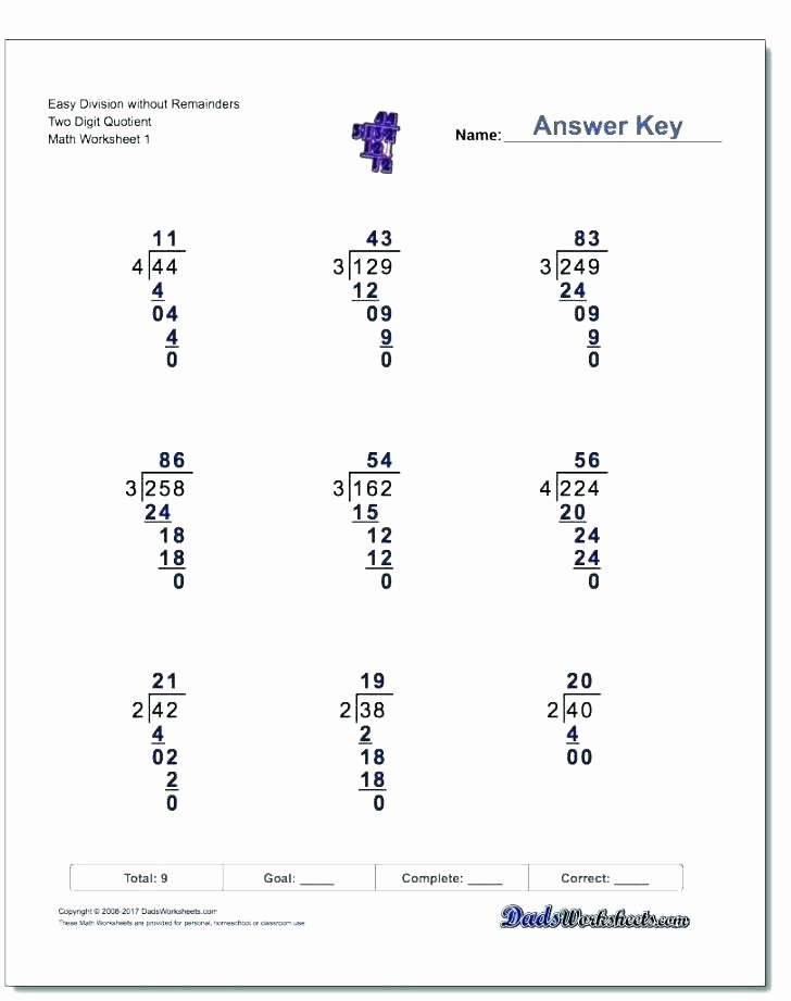 Math Drills Long Division Division Math Drills – Dzulfikar