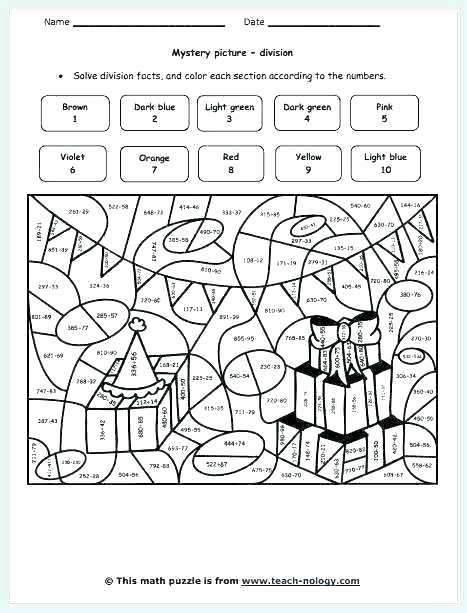 Math Hidden Picture Worksheets Fresh Mystery Number Worksheets 5th Grade Math Worksheets Math