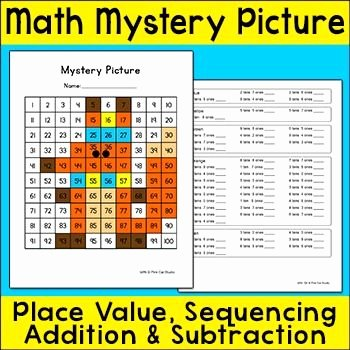 Math Hidden Picture Worksheets Inspirational Free Mystery Picture Math Worksheets 1000 Images About