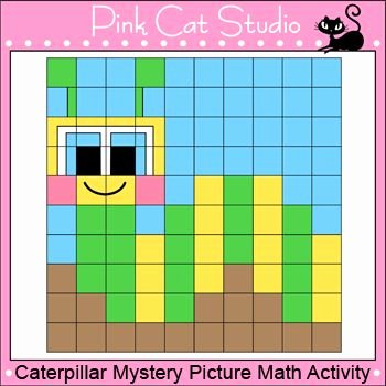 Math Mystery Picture Worksheets Caterpillar Color by Number Math Mystery Picture Summer or