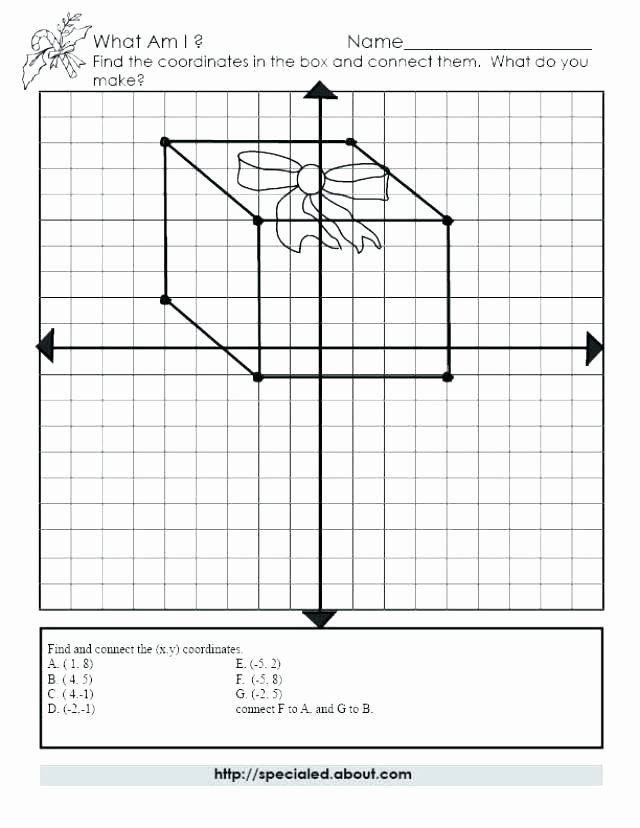 Math Mystery Picture Worksheets Free Math Series Graphing and Ideas Coordinate Plane