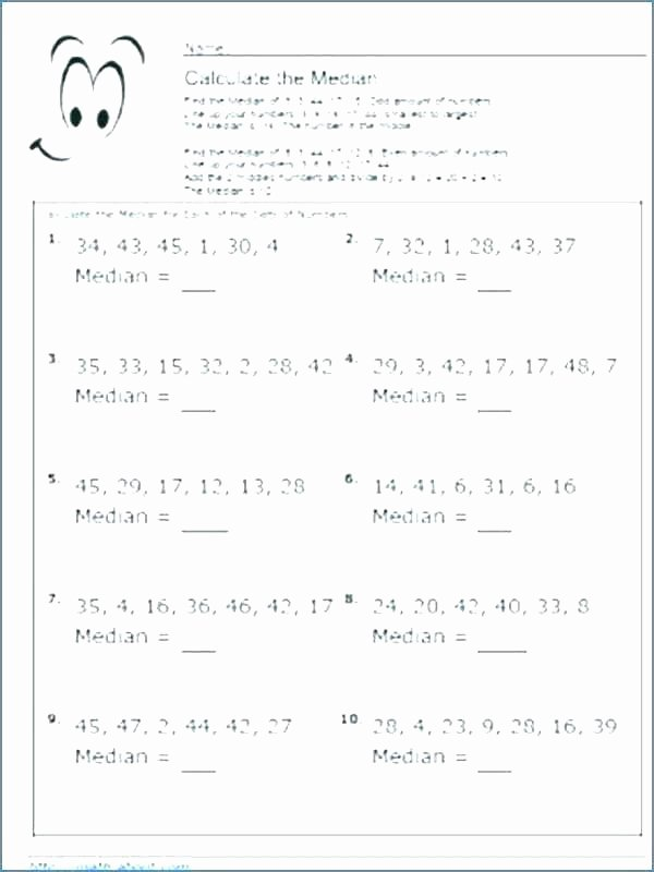 Mean Median Mode Worksheets Pdf Median Worksheets – Benaqiba