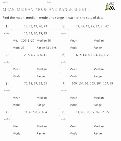 Mean Mode Median Worksheets Mode Mean and Median Worksheets – Petpage