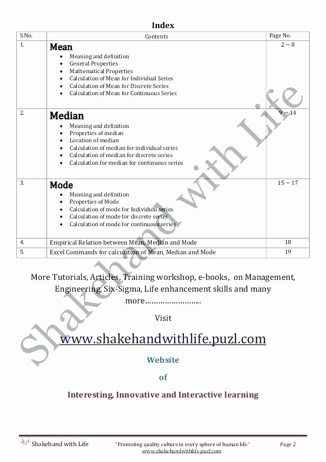 Mean Mode Median Worksheets Worksheets formula Statistics Mean Mode Median Measure