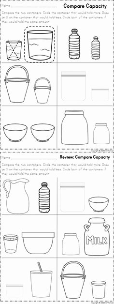 Measure Capacity Worksheet 18 Best Capacity Images In 2018