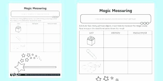 Measure Capacity Worksheet Kindergarten Measurement Worksheets Printable Measuring Mass