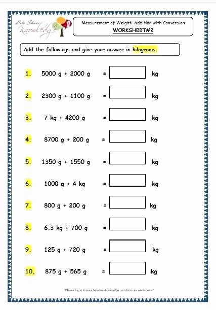 Measurement Worksheet 3rd Grade Grade Math Measurement Worksheets Units Second Customary