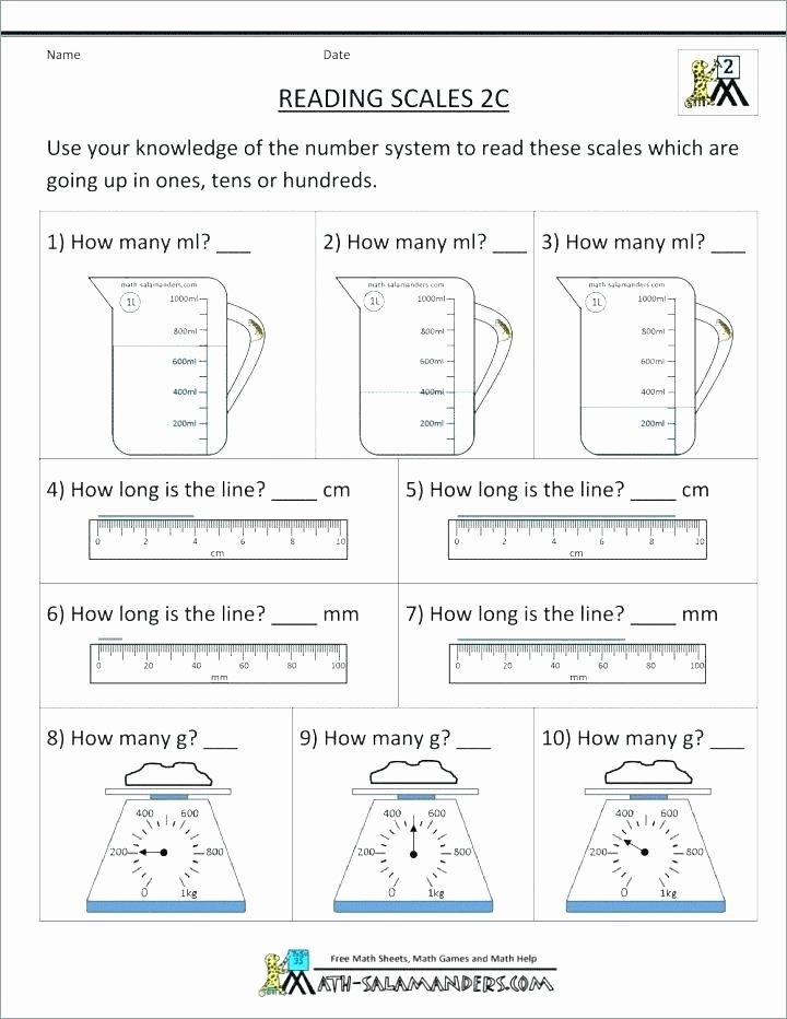 Measurement Worksheet Grade 3 2nd Grade Measurement Worksheets for Free Problems Length