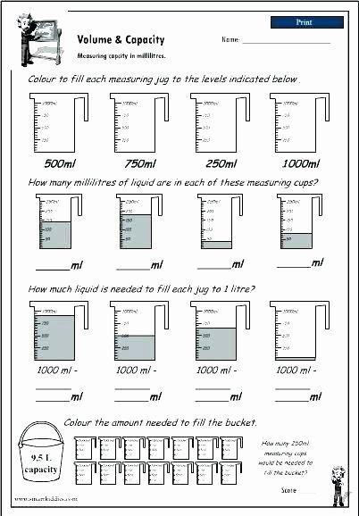 Measurement Worksheet Grade 3 First Grade Measurement Worksheets