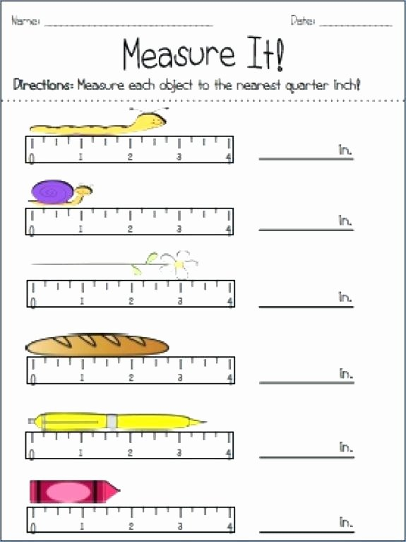 Measuring Inches Worksheet Measuring In Inches Worksheets Grade area Perimeter Measure and