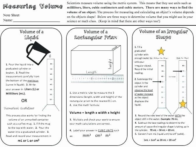 Measuring Liquid Volume Worksheet Answers Unique L Volume Math Surface area Volume Math Rectangular Prism