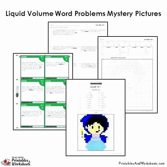 Measuring Liquid Volume Worksheets New Measuring Volume Worksheets