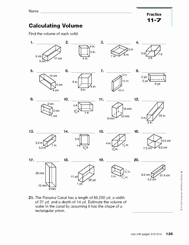 Measuring Volume Worksheets 5th Grade Math Geometry – atrevetehoy