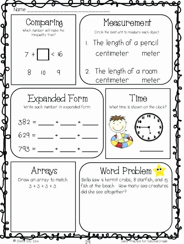 Measuring Worksheet 2nd Grade Inches Worksheets