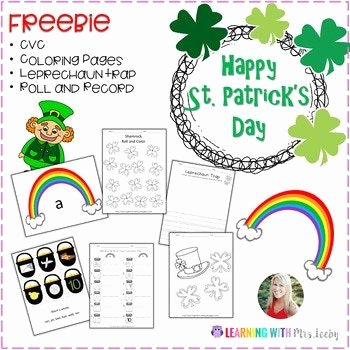 Medial sounds Worksheets First Grade Happy St Patrick S Day Random Fun Seasonal