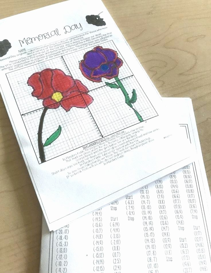 Memorial Day Reading Comprehension Memorial Day Plotting Points Mystery Picture Grade Math