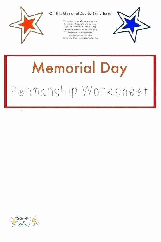 Memorial Day Reading Comprehension Memorial Day Worksheets