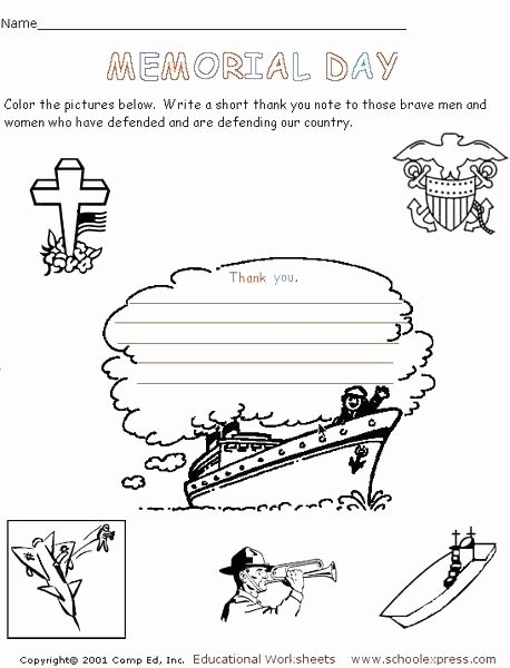 Memorial Day Reading Comprehension Worksheets Reading Prehension Worksheet Memorial Day Free Printables