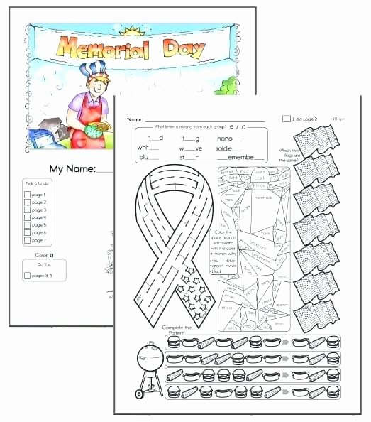 Memorial Day Worksheets First Grade Free Grade Reading Prehension Worksheets Memorial Day
