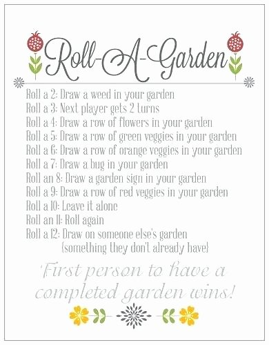 Memory Exercises for Adults Printable Memory Worksheets for Seniors Roll A Garden Fun Dice Game