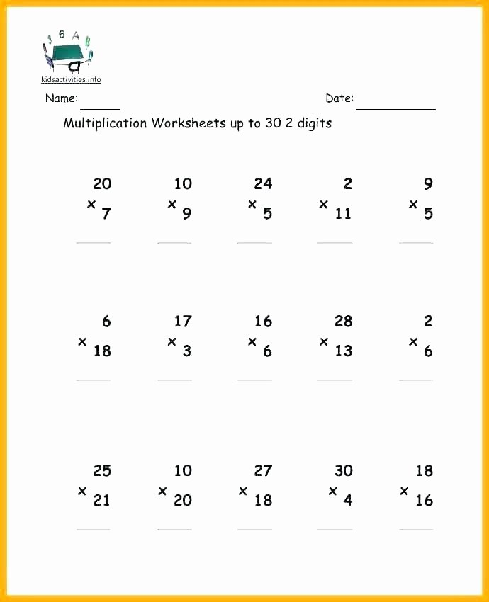 Mental Math Worksheets Grade 3 Mental Math Multiplication Worksheets Grade 3
