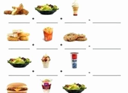 Menu Math Worksheets Beautiful Menu Math Worksheets Grade 4 Restaurant Free Mcdonalds Pdf