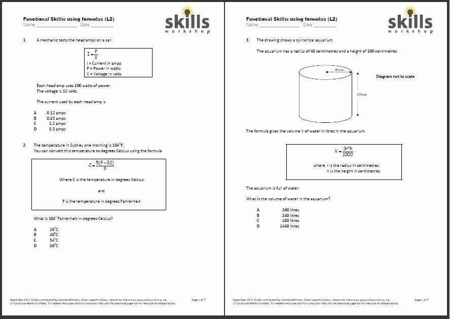 Menu Math Worksheets Fresh Functional Maths Worksheets